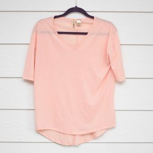 BKE   Pink Sheer Top
